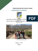 Solucione6436s a La Investigacion de La Problematica Del Agua