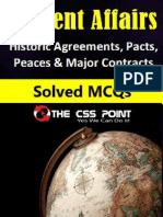 Historic Agreements Pacts Peaces and Major Contracts MCQs With Answers
