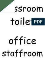 School Place Word Flashcards