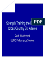 Strength Training for X-C Ski
