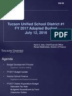 2016-17 TUSD Budget presentation