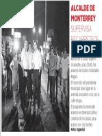 12-07-16 ALCALDE DE MONTERREY SUPERVISA RECARPETEOS