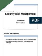 Security Risk Management Discipline