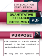 Types of Education Research Design-experimental