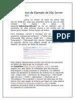 Bases de Datos de Ejemplo de SQL Server 2008 R2
