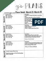 kindergarten weekly plan