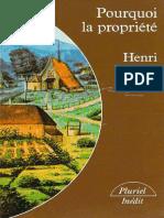 Pourquoi La Propriété (Henri LEPAGE)