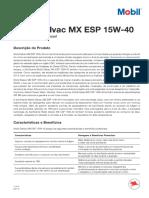 Mobil Delvac Mx Esp 15w-40 Euro 5 Pds 2014