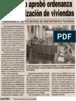 Satélite 22-07-09 Municipio aprobó ordenanza de formalización de viviendas