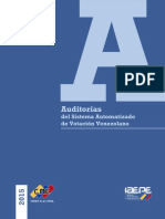 Auditorias del Sistema Automatizado de Votación Venezolano