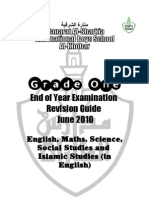 Grade 1 - End of Year Exam Revision Guide - June 2010