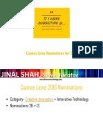 Cannes Lion 2016 Nominations - Abridged