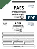 PAES Matematicas 2015