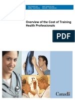 Cost of Training Health Professionals (Health Canada)