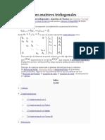 Algoritmo Para Matrices Tridiagonales