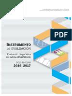 (PRETEST) Instrumento de Evaluación Diagnóstica Ciclo Escolar 2016-2017