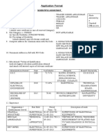 Application for Various Post