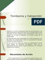 Tioridezina y Haloperidol