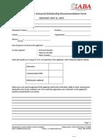 IABA Recommendation Form