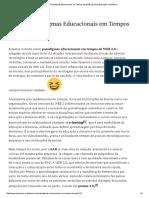 5 Novos Paradigmas Educacionais Em Tempos de WEB 2