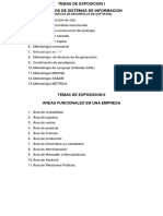 Temas de Exposicion de Sistemas de Informacion i