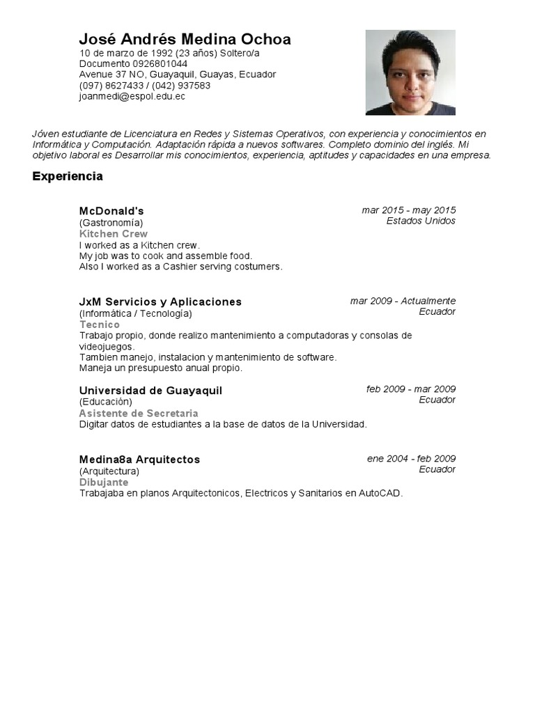Moderno Cad Diseñador Curriculum Vitae Objetivo Viñeta - Ejemplo De ...