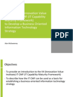 Using The IVI (Innovation Value Institute) IT CMF (IT Capability Maturity  Framework)