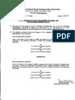 Corrigendum for B.voc Programme (CET Code-200) for Academic Session 2016-17