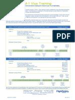 M-1 or F-1 Visa Flight Training