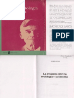 sociologia y filosofia