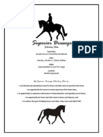 Superior Dressage Schooling Show Program