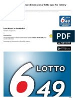 Mylotto-App.com-Canada 6 From 49 Two-dimensional Lotto App for Lottery Winner