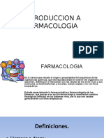 Introduccion a Farmacologia