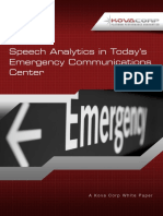 Speech Analytics in Today's Emergency Communications Center