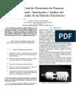 Informe Final, Balastro