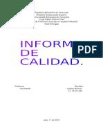 Informe de Calidad