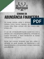 Semana da Abundancia Financeira