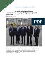 15-03-2016 Excelsior - Volkswagen Sigue en Pie y Tiene Un Futuro Promisorio; Rafael Moreno Valle