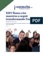16-03-2016 E-Consulta - RMV Llama a Los Maestros a Seguir Transformando Puebla