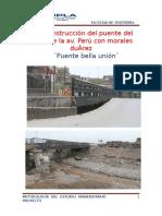 proyecto de mejoramiento de las carreteras