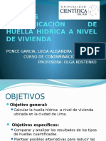 Análisis de Huella Hídrica a Nivel Vivienda