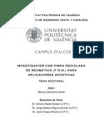 Zamorano - Investigación Con Fibra Reciclada de Neumático (f.r.n.) Para Aplicaciones Acústicas.