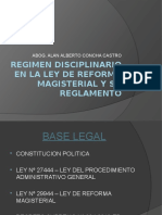 Exposicion Regimen Disciplinario Ley de Reforma Magisterial[1]