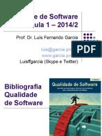 Qualidade de Software - Aula 1 - Qualidade