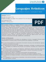 Lic. Cultura y Lenguajes Artisticos