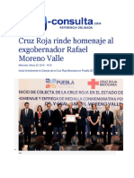23-03-2016 E- Consulta - Cruz Roja Rinde Homenaje Al Exgobernador Rafael Moreno Valle