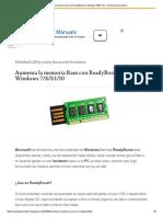 Aumenta La Memoria Ram Con ReadyBoost en Windows 7_8_8