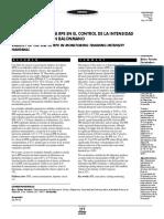 Validez Del Uso de La Rpe en El Control de La Intensidad de Entrenamiento en Balonmano