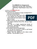 MBA /M.Com/BBA/B.Com Assignments