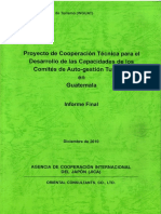 Proyecto de Cooperación Tecnica Para El Desarrollo de Las Capacidades de Los CAT's en Guatemala